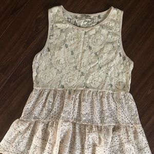 Sweet Ivory Lace sleeveless Top